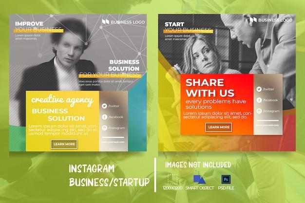 Banner de mídia social de web de marketing de negócios