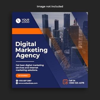 Banner de mídia social do instagram de negócios de marketing digital