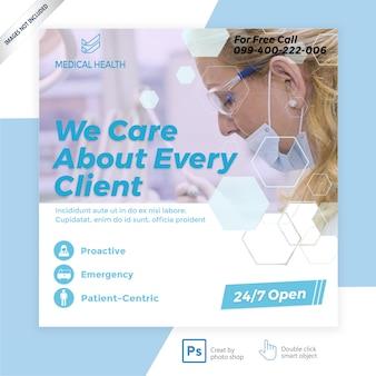 Banner de mídia social médica
