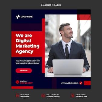 Banner de mídia social para o modelo de agência de marketing