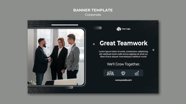 Banner de modelo de anúncio corporativo