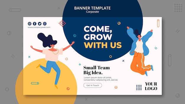 Banner de modelo de anúncio de contratação