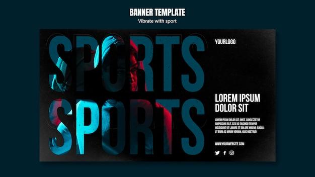 Banner de modelo de anúncio de esporte