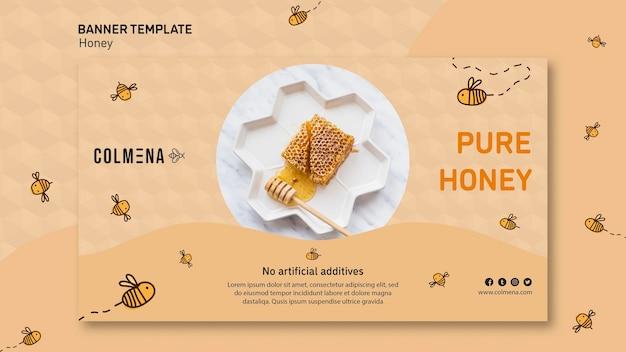 Banner de modelo de anúncio de loja de mel