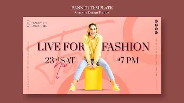 Banner de modelo de anúncio de loja de moda