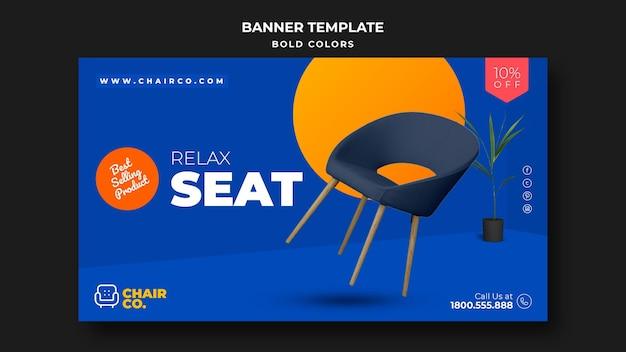 Banner de modelo de anúncio de loja de móveis
