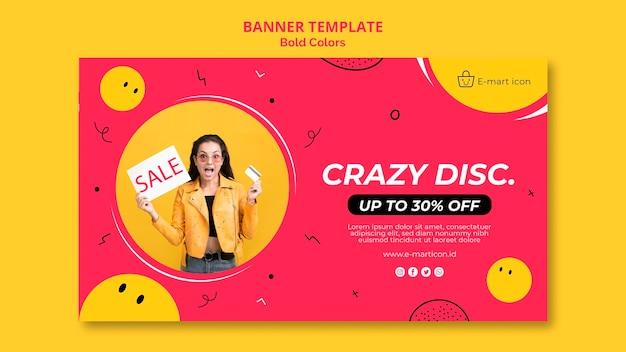 Banner de modelo de anúncio de venda