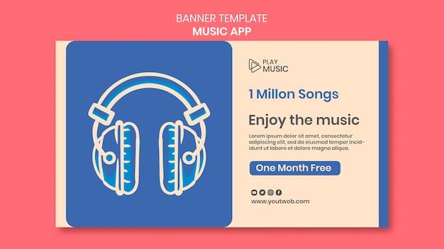 Banner de modelo de aplicativo de música