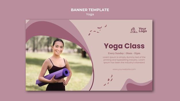 Banner de modelo de aula de ioga
