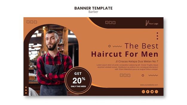 Banner de modelo de barbearia