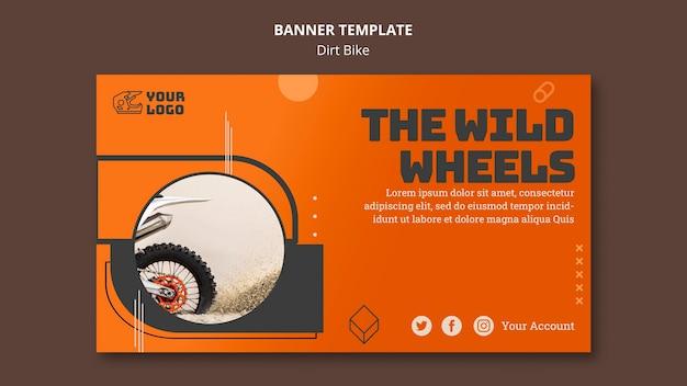 Banner de modelo de bicicleta suja