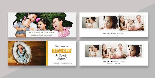 Banner de modelo de capa de facebook para fotógrafos
