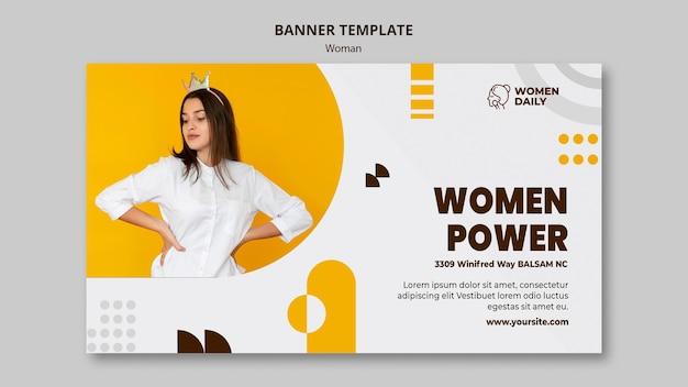 Banner de modelo de conferência de feminismo