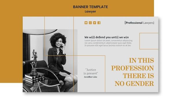 Banner de modelo de escritório de advocacia