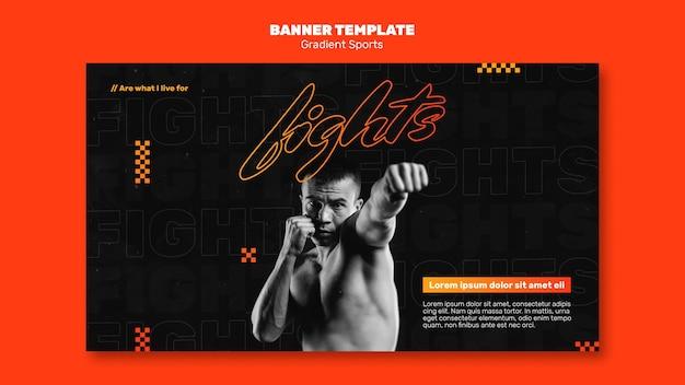 Banner de modelo de esportes de luta