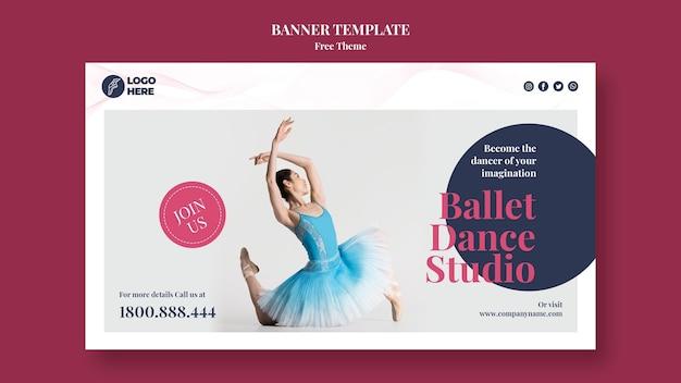 Banner de modelo de estúdio de dança
