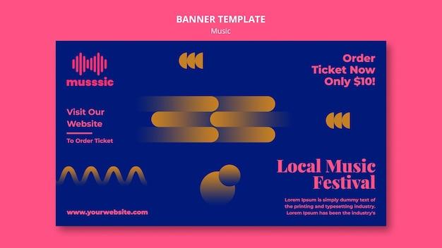 Banner de modelo de exposição musical