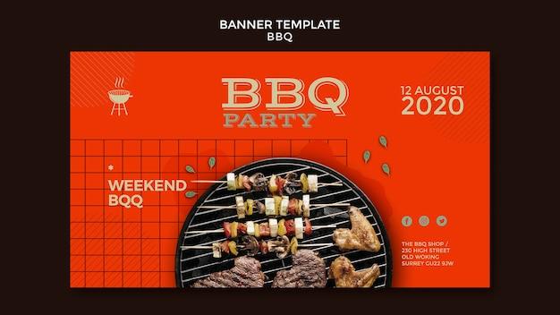 Banner de modelo de festa para churrasco