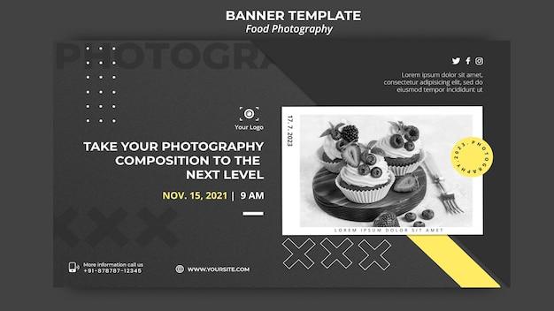Banner de modelo de fotografia de comida