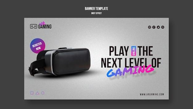 Banner de modelo de jogo de realidade virtual