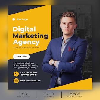 Banner de modelo de postagem de instagram de negócios