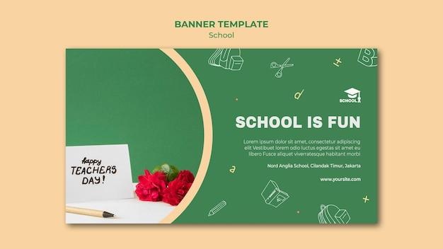 Banner de modelo de volta às aulas