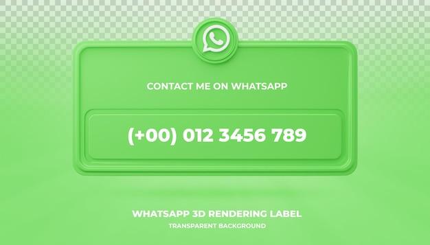 Banner de pesquisa de ícone de banner de renderização em 3d do whatsapp isolado