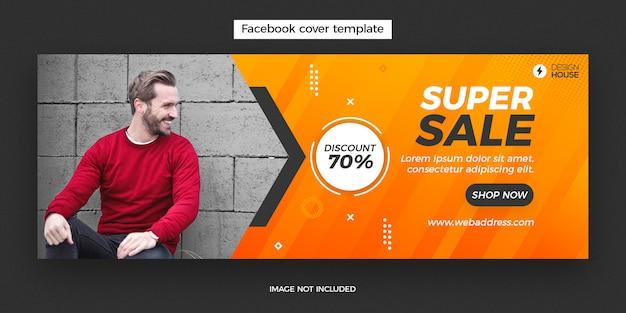 Banner de post de capa de facebook super venda dinâmica