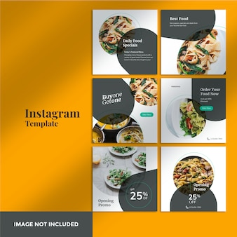 Banner de postagem de instagram de alimentos