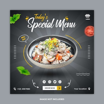 Banner de postagem de mídia social de comida saudável