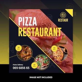 Banner de postagem de mídia social de pizza