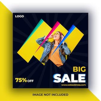 Banner de postagem de mídia social de venda