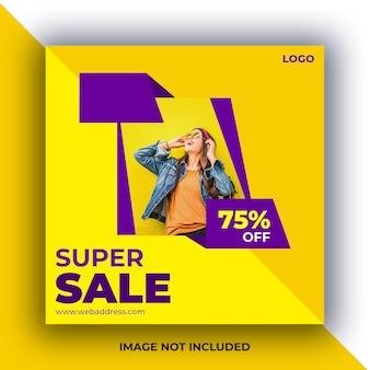 Banner de posts de mídia social de venda