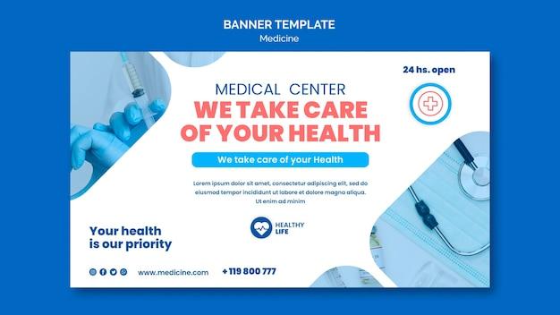 Banner de prevenção covid19 de medicamento