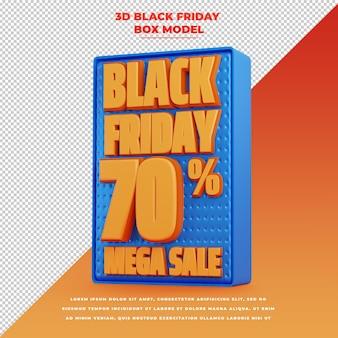 Banner de promoção 3d preto sexta-feira com desconto de promoção