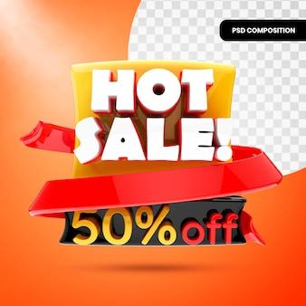 Banner de promoção de venda quente 3d