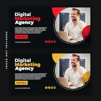 Banner de psd de mídia social da web de negócios criativos