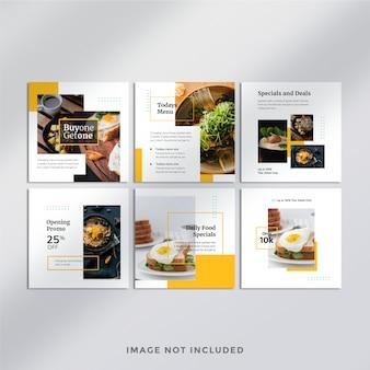 Banner de publicação do instagram de alimentos