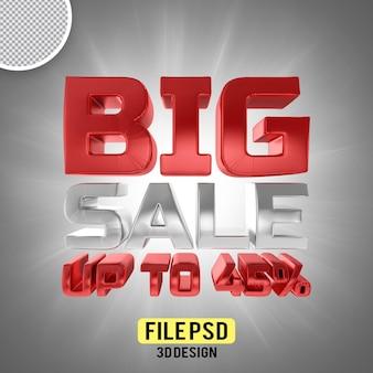 Banner de renderização 3d grande venda 45