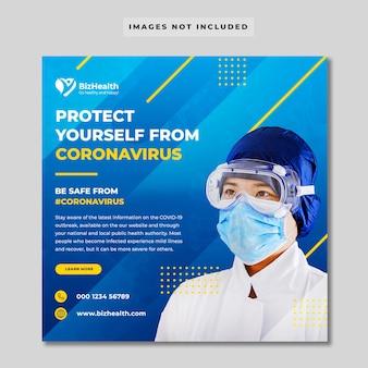 Banner de saúde médico sobre coronavírus
