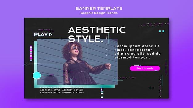 Banner de tendências de design gráfico