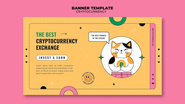 Banner de troca de criptomoeda