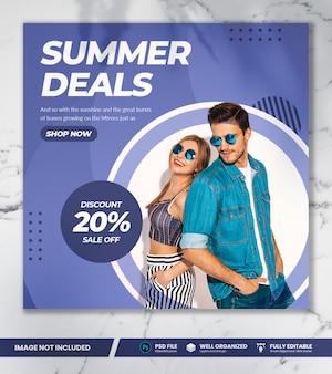 Banner de venda de moda verão