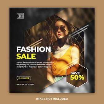 Banner de venda de moda