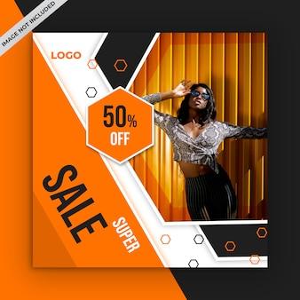 Banner de venda quadrada para instagram