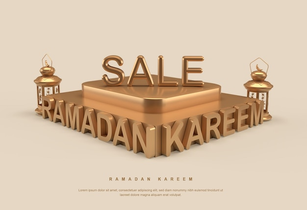 Banner de venda ramadan kareem