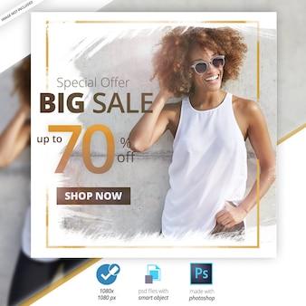 Banner de web de mídia social de venda especial