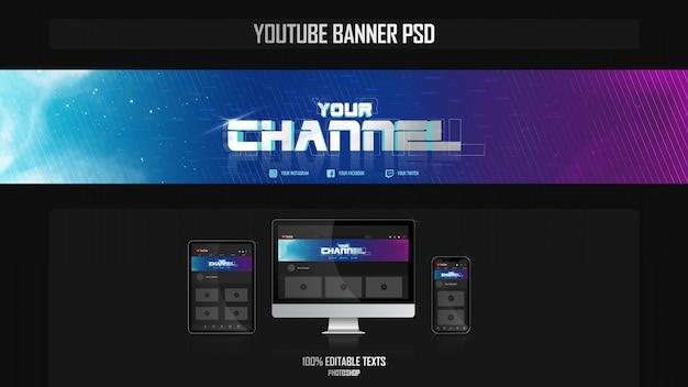 Banner do canal do youtube