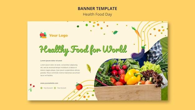 Banner do dia da comida saudável