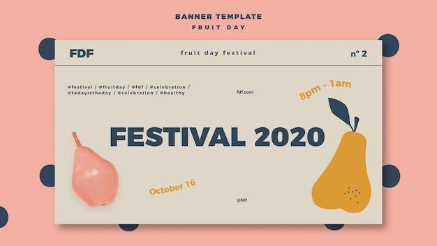 Banner do dia da fruta com ilustrações